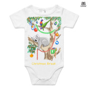 Sleeping Christmas Koala - ASColour Baby Onesie