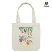 Sleeping Christmas Koala - Canvas Tote Carry Bag