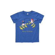 Australian Cute Blue Wren Christmas Carols - ASColour Small Kids T-Shirt