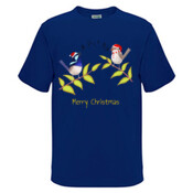 Australian Cute Blue Wren Christmas Carols - Kids Regular Surf Style Tee