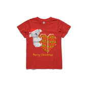 Koala Origami and its Heart gift wrapped for Christmas - Mens Surf Style TShirt - ASColour Youth T-Shirt