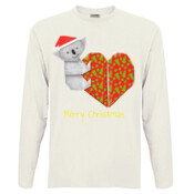 Koala Origami and its Heart gift wrapped for Christmas - Mens Surf Style TShirt - Men's 'Sportage Hawkins' Long Sleeve Tee