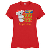 Koala Origami and colorful Christmas Gift boxes - Sportage Ladies Surf Style T Shirt
