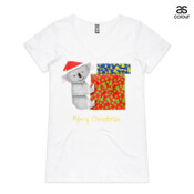 "Koala Origami and colorful Christmas Gift boxes - ASColour Ladies ""Bevel"" V-Neck Tshirt"