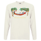 Well Deserved Christmas Break - Koala Relaxing on Hammock  - Men's 'Sportage Hawkins' Long Sleeve Tee