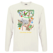 Sleeping Christmas Koala - Men's 'Sportage Hawkins' Long Sleeve Tee