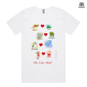 Who eats what? (Girl) - ASColour Scoop Neck Shadow T Shirt