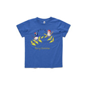 Australian Cute Blue Wren Christmas Carols - ASColour Youth T-Shirt