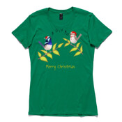 Australian Cute Blue Wren Christmas Carols - ASColour Ladies Wafer TShirt