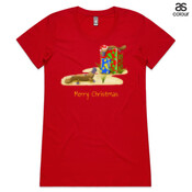 Platypus and Christmas Gifts - ASColour Ladies Wafer TShirt