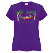 Love Busy Christmas Holidays! - Sportage Ladies Surf Style T Shirt