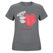 Koala and Heart Origami - Ladies Fashion Tshirt