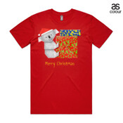 Koala Origami and colorful Christmas Gift boxes - ASColour Men's Staple Tee
