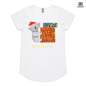 Koala Origami and colorful Christmas Gift boxes - ASColour Ladies Mali T Shirt