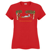Well Deserved Christmas Break - Koala Relaxing on Hammock  - Sportage Ladies Surf Style T Shirt