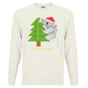 Christmas Origami Koala and cute baby - Men's 'Sportage Hawkins' Long Sleeve Tee