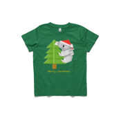 Christmas Origami Koala and cute baby - ASColour Youth T-Shirt