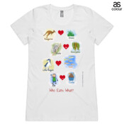 Who eats what? (Boy) - ASColour Ladies Wafer TShirt