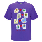 Who eats what? (Boy) - Kids Regular Surf Style Tee