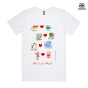 "Who eats what? (Girl) - ASColour ""Tarmac"" Men's V-Neck T Shirt"