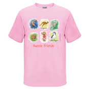 Aussie Friends (Girl) - Kids Regular Surf Style Tee